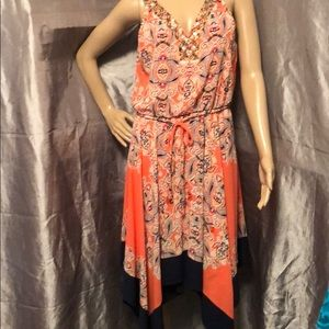 Size 8 a.n.a Coral color sleeveless dress